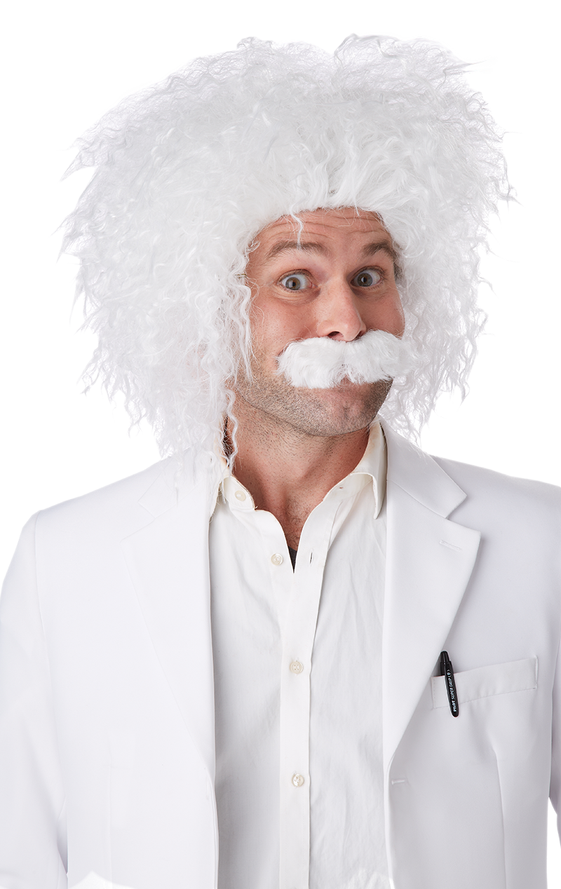 Einstein Wig and Moustache Accessory